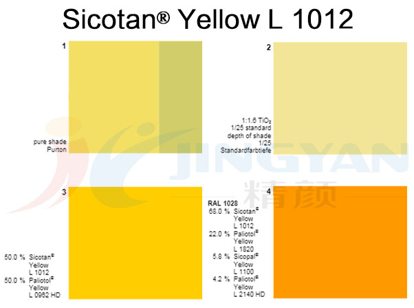 巴斯夫BASF Sicotan Yellow L1012钛镍黄无机颜料